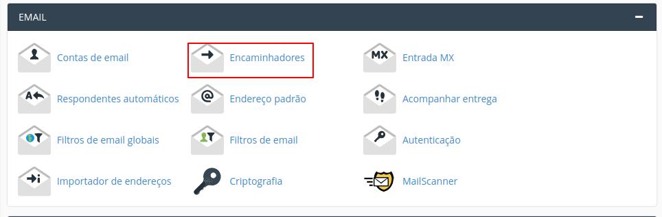cpanel redirecionamento de e-mail 1